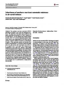 Inheritance of southern root-knot nematode resistance in air-cured ...