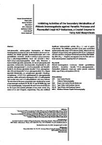Inhibiting Activities of the Secondary Metabolites of ... - OceanRep