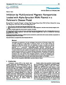 Inhibition by Multifunctional Magnetic Nanoparticles Loaded with