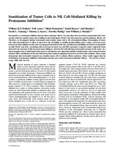 Inhibition Cell-Mediated Killing by Proteasome Sensitization of Tumor ...