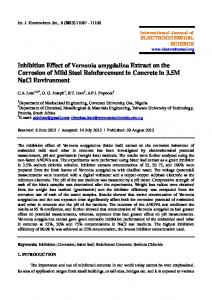Inhibition Effect of Vernonia amygdalina Extract on the Corrosion of