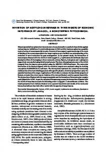 INHIBITION OF ACETYLCHOLINESTERASE IN ...