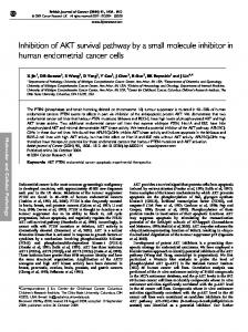 Inhibition of AKT survival pathway by a small molecule ... - CiteSeerX