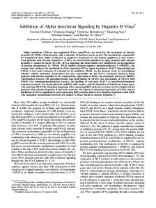 Inhibition of Alpha Interferon Signaling by ... - Journal of Virology