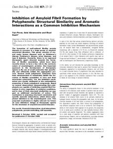 Inhibition of Amyloid Fibril Formation by Polyphenols: Structural ...