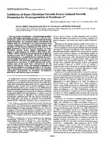 Inhibition of basic fibroblast growth factor-induced growth promotion ...