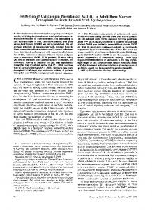 Inhibition of Calcineurin Phosphatase Activity in ...
