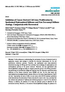 Inhibition of Cancer Derived Cell Lines Proliferation by ... - MDPI