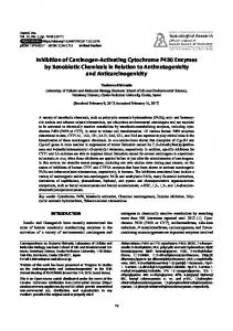 Inhibition of Carcinogen-Activating Cytochrome P450 Enzymes by ...