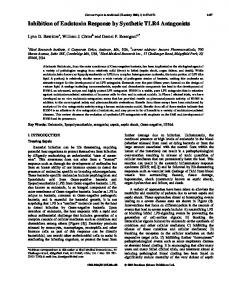 Inhibition of Endotoxin Response by Synthetic TLR4 ... - Ingenta Connect