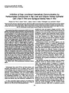 Inhibition of Gap Junctional Intercellular Communication by ...