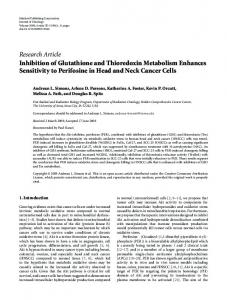 Inhibition of Glutathione and Thioredoxin Metabolism Enhances ...