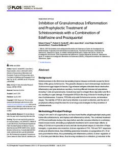 Inhibition of Granulomatous Inflammation and Prophylactic ... - PLOS