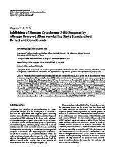 Inhibition of Human Cytochrome P450 Enzymes by Allergen Removed