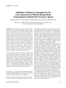 Inhibition of Human Cytomegalovirus IE Gene Expression by ... - In Vivo