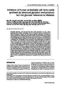 Inhibition of human endothelial cell nitric oxide synthesis by advanced ...