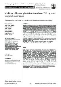 Inhibition of human glutathione transferase P1-1 by novel benzazole ...