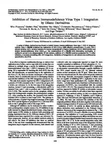 Inhibition of Human Immunodeficiency Virus Type 1 Integration by ...