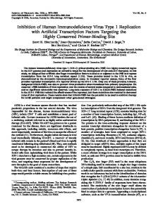 Inhibition of Human Immunodeficiency Virus Type 1 Replication with ...