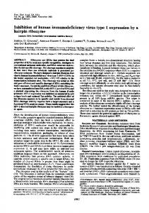 Inhibition of human immunodeficiency virus type 1 expression by a ...