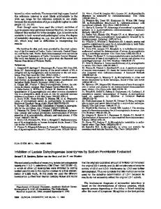 Inhibition of Lactate Dehydrogenase lsoenzymes ... - Clinical Chemistry