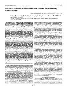 Inhibition of Lectin-mediated Ovarian Tumor Cell Adhesion by Sugar ...