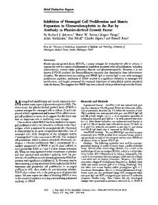 Inhibition of mesangial cell proliferation and matrix expansion in ...