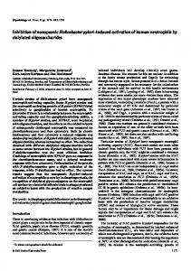 Inhibition of nonopsonic Helicobacter pylori ... - Semantic Scholar