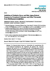 Inhibition of Oxidative Stress and Skin Aging-Related Enzymes ... - MDPI