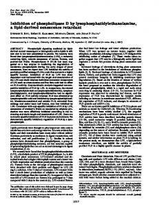 Inhibition of phospholipase D by ... - Semantic Scholar
