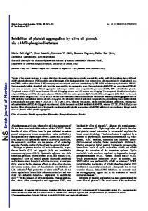 Inhibition of platelet aggregation by olive oil phenols via cAMP ...