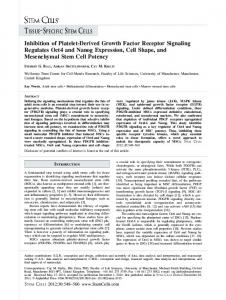 Inhibition of PlateletDerived Growth Factor Receptor ... - BioMedSearch