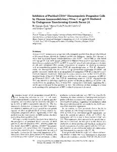 Inhibition of Purified CD34 + Hematopoietic ... - BioMedSearch