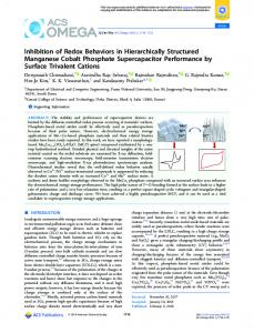 Inhibition of Redox Behaviors in Hierarchically ... - ACS Publications