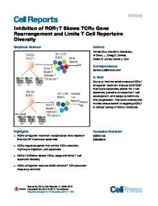 Inhibition of RORγT Skews TCR&alpha ... - Cell Presswww.researchgate.net › publication › fulltext › Inhibition