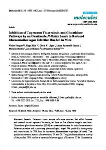 Inhibition of Tapeworm Thioredoxin and Glutathione Pathways by an ...