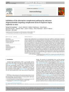 Inhibition of the alternative complement pathway by ... - CyberLeninka