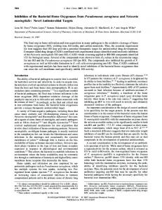 Inhibition of the Bacterial Heme Oxygenases from Pseudomonas ...