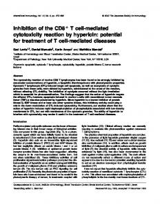 Inhibition of the CD8+ T cell-mediated cytotoxicity reaction by ...