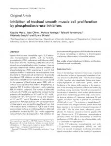 Inhibition of tracheal smooth muscle cell proliferation by ...