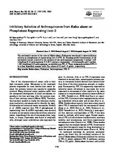 Inhibitory Activities of Anthraquinones from Rubia ... - Springer Link