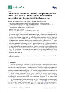 Inhibitory Activities of Phenolic Compounds ... - Semantic Scholar