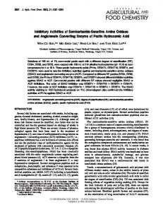 Inhibitory Activities of Semicarbazide-Sensitive ... - ACS Publications