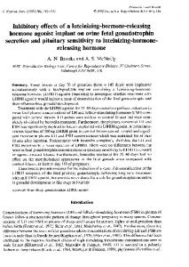 Inhibitory effects of a luteinizing-hormone-releasing hormone agonist ...
