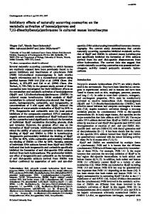 Inhibitory effects of naturally occurring coumarins ... - Semantic Scholar