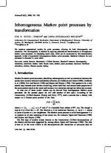Inhomogeneous Markov point processes by ... - Project Euclid