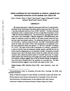 Initial conditions for star formation in clusters: physical and kinematical ...https://www.researchgate.net/.../Initial-conditions-for-star-formation-in-clusters-Physic...