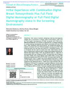 Initial Experience with Combination Digital Breast ...