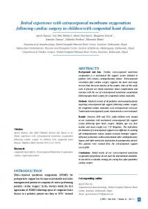Initial experience with extracorporeal membrane ... - NepJOL