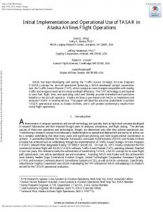 Initial Implementation and Operational Use of TASAR in Alaska ...